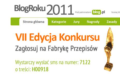 Blog roku 2011 - konkurs