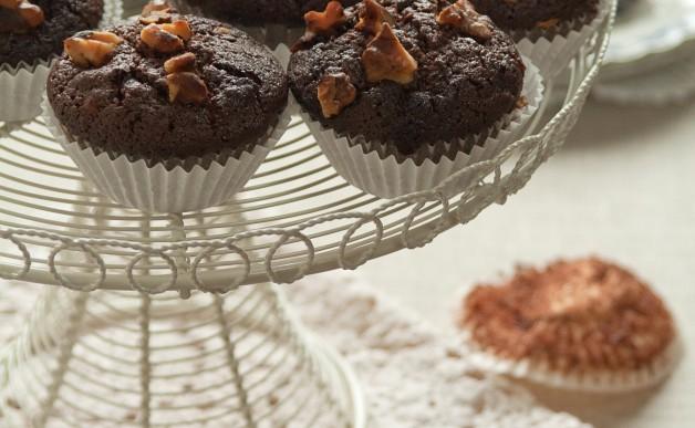 Muffinki czekoladowo-orzeczowe