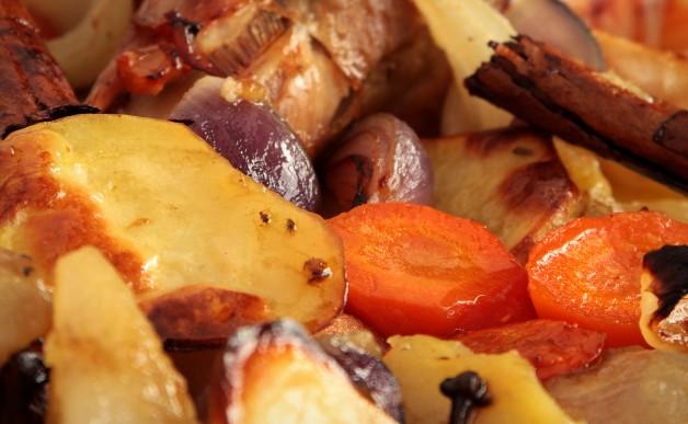 Świąteczny indyk z warzywami