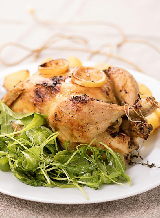 Cytrynowo tymiankowy pieczony kurczak