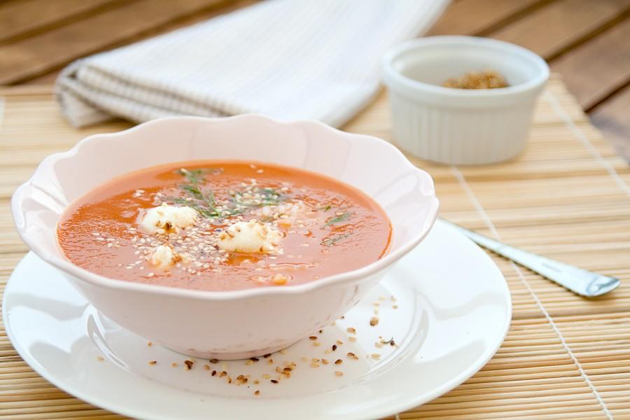 Pomidorowa inaczej czyli z mozzarrellą i mascarpone
