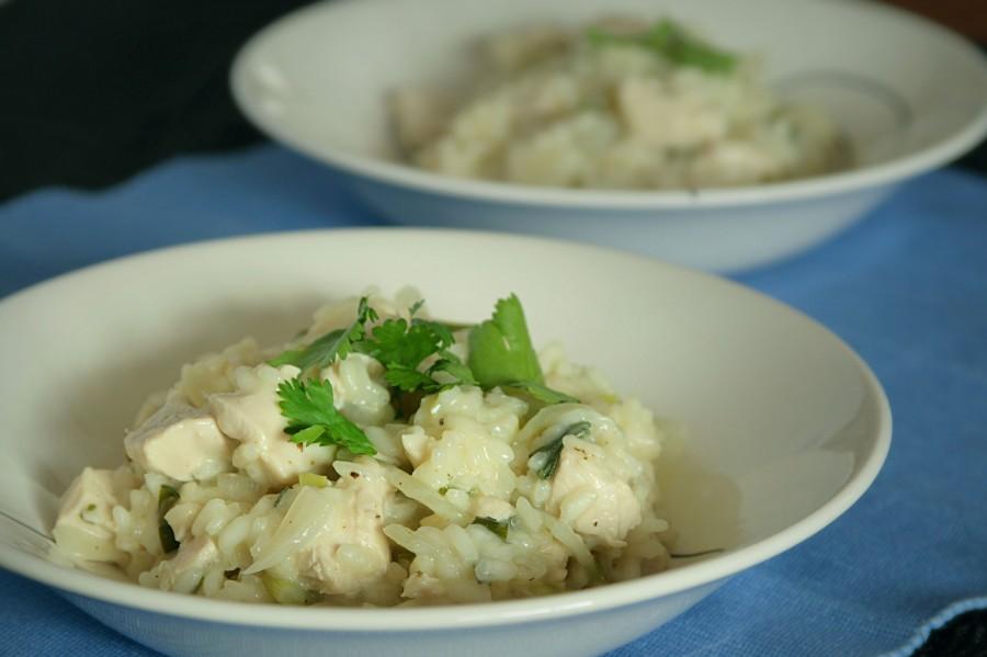 Risotto z kurczakiem i wermutem - dietetyczne