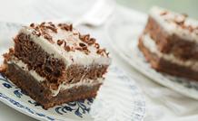 Ciasto czekoladowo-bananowe z kremem