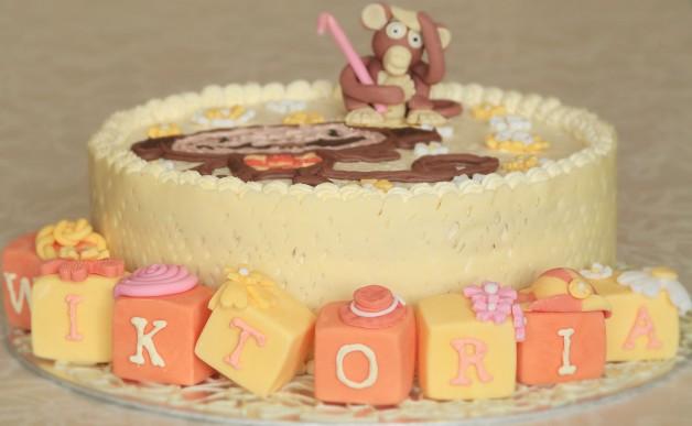 Tort Urodzinowy – Kokosowy z Małpką