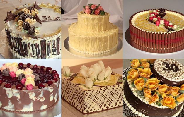 Torty urodzinowe i weselny. Dekoracja żywe róże lub róże z lukru plastycznego